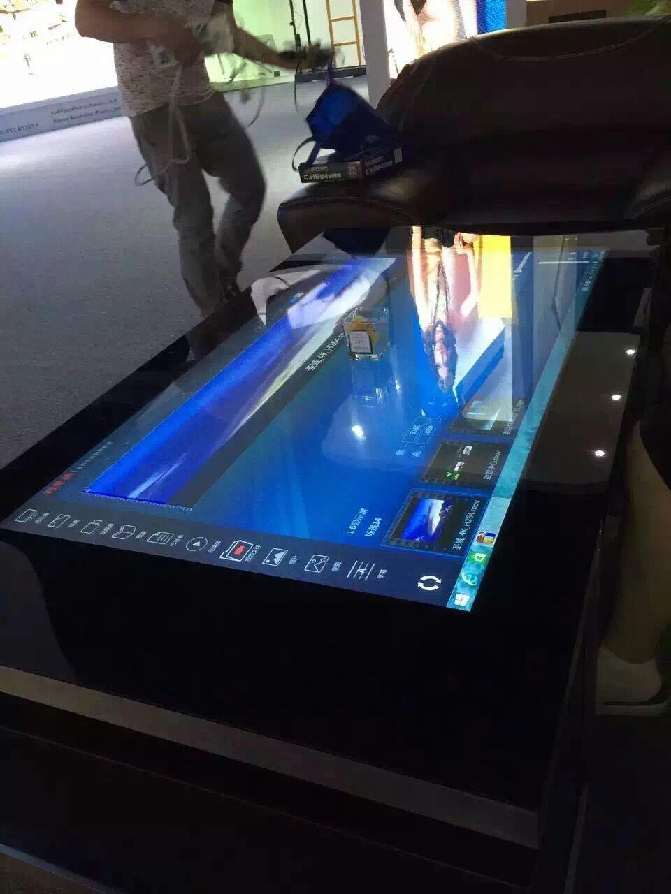 深圳利亚德光电有限公司 首套55寸互动甩屏触摸茶几