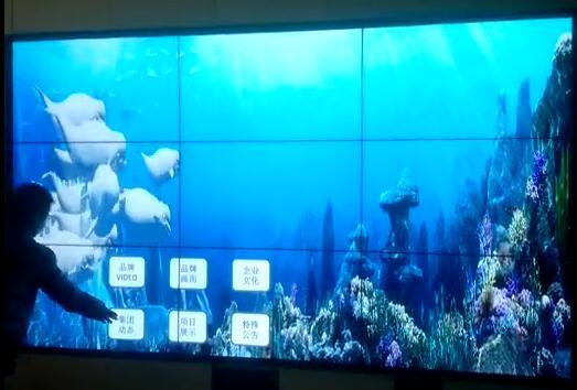 爱镭仕大屏幕拼接显示为展厅带来超视觉感