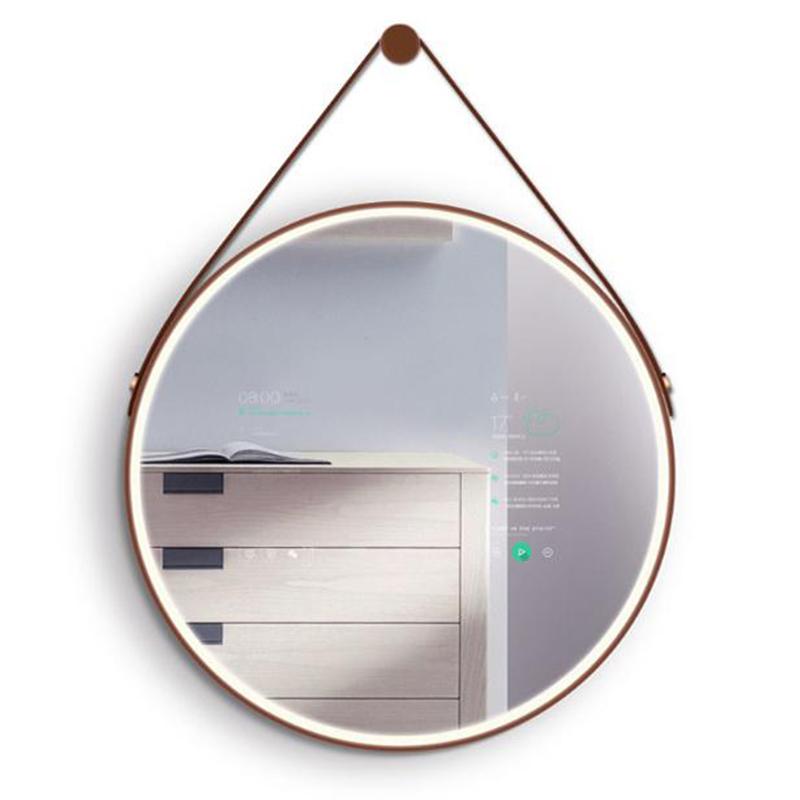 圆形壁挂式智能声控镜面一体机