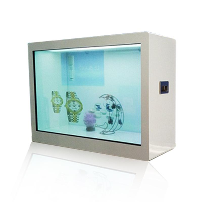 智能红外触摸透明屏展柜